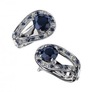 Boucles d'Oreilles Ni Naïve Ni Soumise, Vraie Saphir Diamants Mauboussin