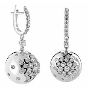 Boucles d'Oreilles Paradise en Or Blanc et Diamants de Damiani