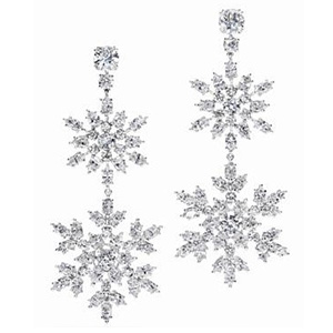 Boucles d'oreilles Platine Diamants Marquise Harry Winston