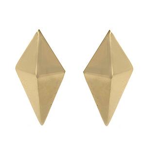 Boucles d'Oreilles Pyramide en Or Jaune de Deborah Pagani