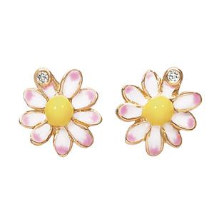 Boucles d'Oreilles Diorette Marguerites Or Jaune Dior Joaillerie