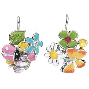 Boucles d'Oreilles Diorette Papillon Coccinelle Or Blanc Dior Joaillerie