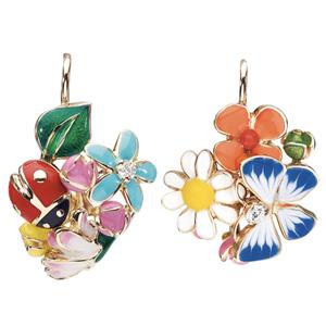 Boucles d'Oreilles Diorette Papillon Coccinelle Or Jaune Dior Joaillerie