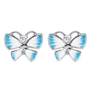 Boucles d'Oreilles Diorette Papillons Or Blanc Dior Joaillerie