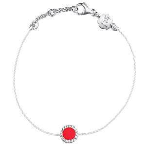 Bracelet Nobless en Argent et Émail Rouge Vanessa Tugendhaft