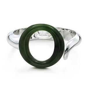 Bracelet Argent et Jade Vert d'Elsa Peretti pour Tiffany & Co