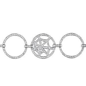 Bracelet Attrape moi si tu m'aimes Or Gris Diamants Chaumet