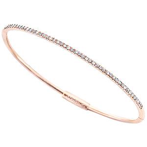 Bracelet Bangle Gatsby Or Rose et Diamants de Messika
