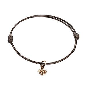 Bracelet Cordon Micro Star Or Rose Shamballa