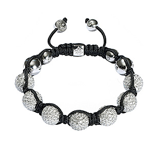 Bracelet Diamants Blancs Or Blanc Shamballa