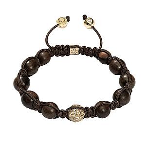 Bracelet Diamants Bruns Ébène Or Blanc Shamballa