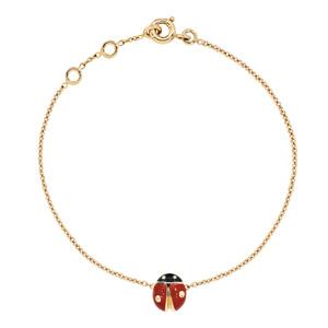 Bracelet Diorette Coccinelle Or Jaune Dior Joaillerie