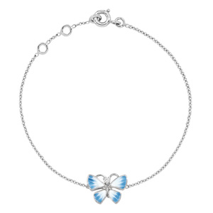 Bracelet Diorette Papillon Diamant Or Blanc Dior Joaillerie