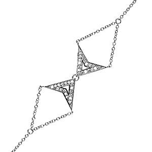 Bracelet Double Jerry en Or Blanc Diamants Gris de Deborah Pagani
