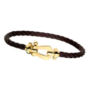 Bracelet Force 10 Or Jaune Câble Chocolat Fred