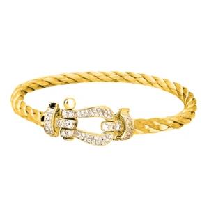 Bracelet Force 10 Or Jaune Diamants Fred