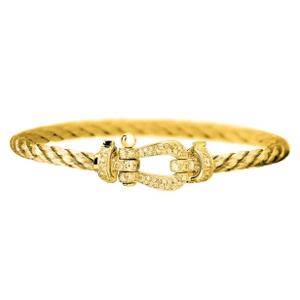 Bracelet Force 10 Or Jaune Diamants Jaunes Fred