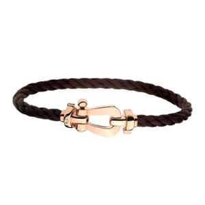 Bracelet Force 10 Or Rose Câble Chocolat Fred