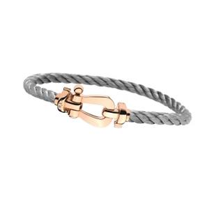 Bracelet Force 10 Or Rose Câble Acier Fred
