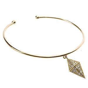 Bracelet Jonc Pyramide Or Jaune et Diamants Blancs de Deborah Pagani