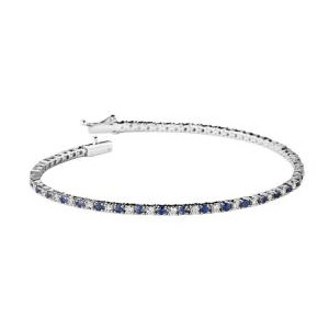Bracelet le Grand Bleu Or Blanc Pavage Diamants Saphirs Mauboussin