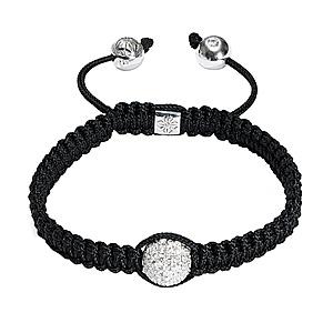 Bracelet Macramé Diamants Or Blanc Shamballa