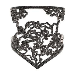 Bracelet Nérée Or Noir Pavage Diamants Noirs de Repossi