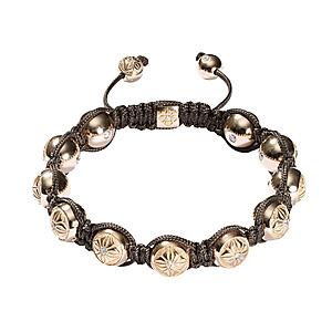 Bracelet Or Rose et Diamants Shamballa