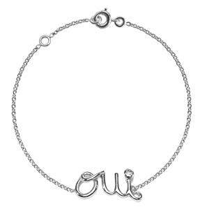 Bracelet Oui Diamant Or Blanc Dior Joaillerie