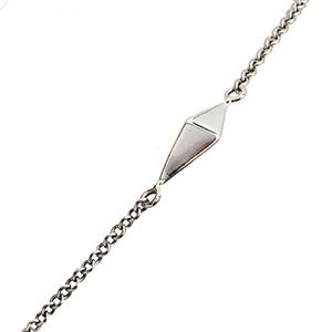 Bracelet Pyramide en Or Blanc de Deborah Pagani