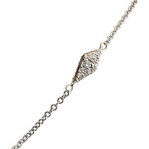 Bracelet Pyramide en Or Blanc et Diamants Gris de Deborah Pagani