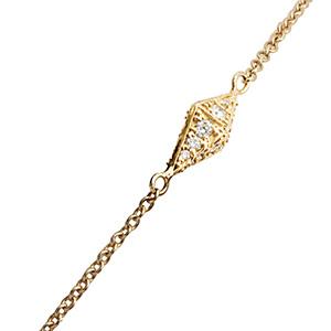 Bracelet Pyramide Or Jaune et Diamants Cognacs de Deborah Pagani