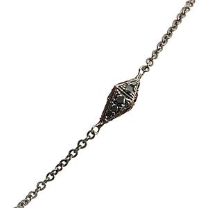 Bracelet Pyramide Or Noir et Diamants Noirs de Deborah Pagani