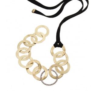 Bracelet Ruban Daim Noir et Diamants de H.Stern