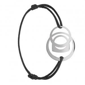 Bracelet Success Mobile Or Blanc Cordon Noir Fred