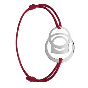 Bracelet Success Mobile Or Blanc Cordon Rouge Fred