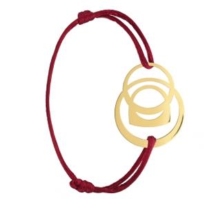 Bracelet Success Mobile Or Jaune Cordon Rouge Fred