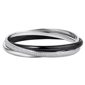Bracelet Trinity en Céramique Noire et Diamants de Cartier
