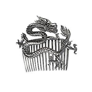 Broche Dragon en Vermeil Noir de AS29 & Pascale Renaud