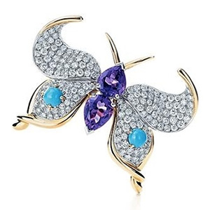 Broche Papillon Jean Schlumberger Turquoises de Tiffany and Co