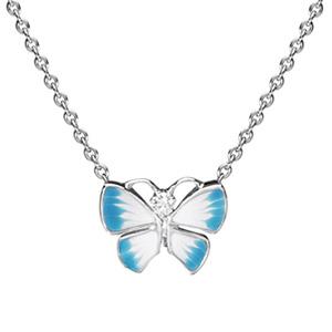 Collier Diorette Papillon Diamant Or Blanc Dior Joaillerie