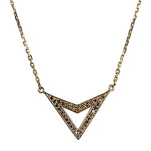 Collier Jerry Or Jaune et Diamants Cognacs de Deborah Pagani