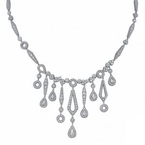 Collier Joséphine Grand Modèle Or Gris et Diamants de Chaumet