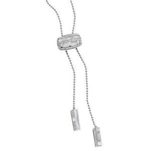 Collier le Vice et la Vertu Or Blanc Diamants Nacre Blanche Mauboussin