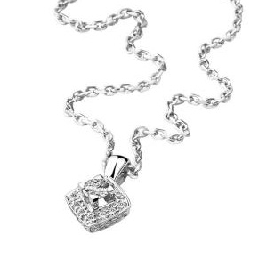 Collier Love my Love en Or Blanc Diamants de Mauboussin