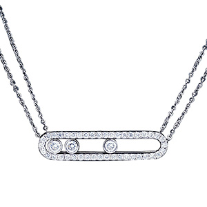 Collier Move en Or Blanc et Pavage Diamants de Messika
