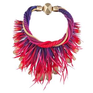 Collier Nouez-Moi Cordes Torsadées et Plumes Dior