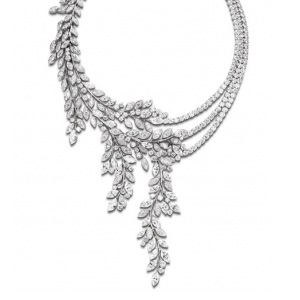 Collier Or Blanc et Diamants Taille Marquise de Piaget