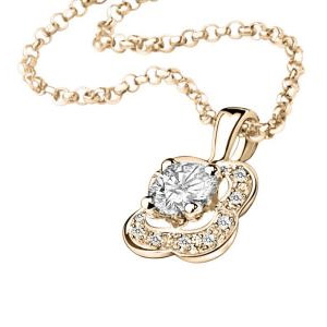 Pendentif Chance of Love Diamants Or Rose Mauboussin
