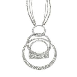 Pendentif Success Mobile Or Blanc Pavé Diamants Fred
